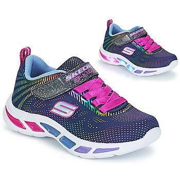 Shoes Girl Low top trainers Skechers LITEBEAMS Navy