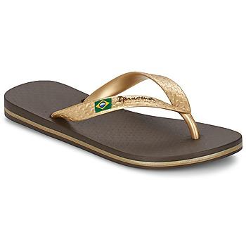 Shoes Women Flip flops Ipanema CLASSICA BRASIL II Brown / Gold
