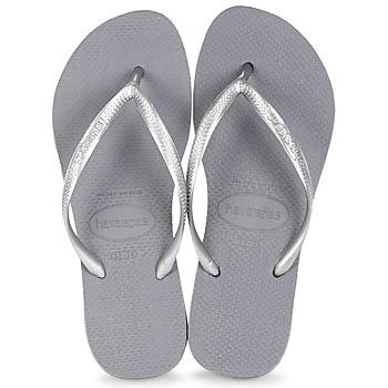 Shoes Women Flip flops Havaianas SLIM Grey / Steel