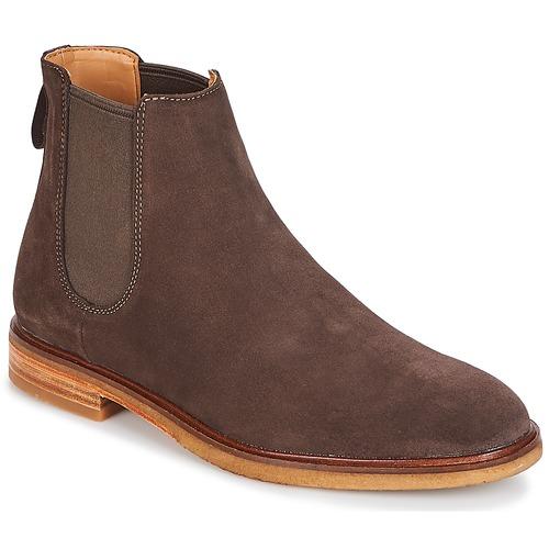 Shoes Men Mid boots Clarks Clarkdale Gobi Dark / Brown / Suede