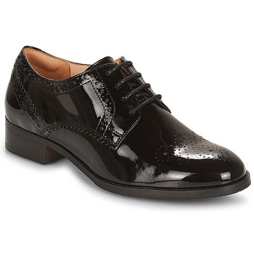 Shoes Women Derby Shoes Clarks Netley Rose  black / Pat