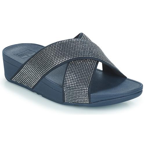 Shoes Women Sandals FitFlop Ritzy Slide Blue