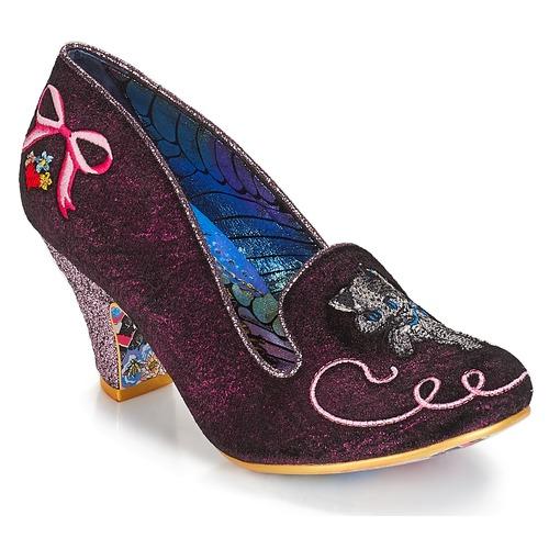 Shoes Women Heels Irregular Choice Fuzzy Peg Pink