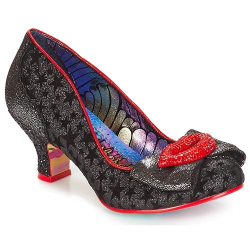 Shoes Women Heels Irregular Choice Carnival kiss  black / Silver