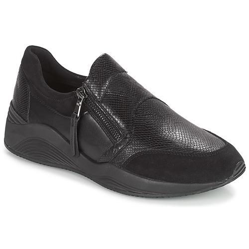 Shoes Women Low top trainers Geox D OMAYA Black