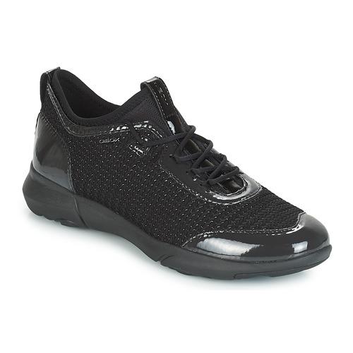 Shoes Women Low top trainers Geox D NEBULA X Black