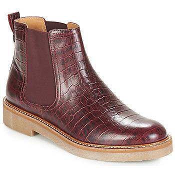 Shoes Women Mid boots Kickers OXFORDCHIC Bordeaux
