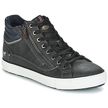 Shoes Men Hi top trainers Mustang AIYANNA Grey / Dark