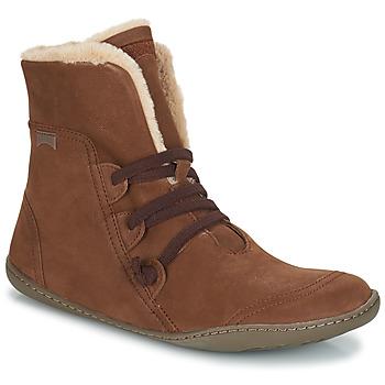 Shoes Women Mid boots Camper PEU CAMI Brown