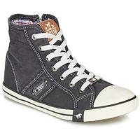 Shoes Women Hi top trainers Mustang GALLEGO Black