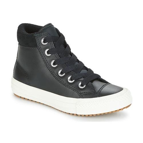 ed3c3fec59ba Shoes Children Hi top trainers Converse CHUCK TAYLOR ALL STAR PC BOOT HI  Black   White