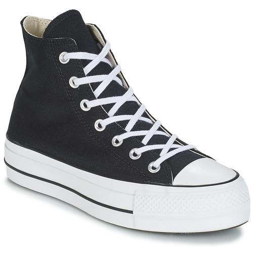 Shoes Women Hi top trainers Converse CHUCK TAYLOR ALL STAR LIFT CANVAS HI Black