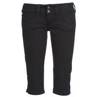 Clothing Women Cropped trousers Pepe jeans VENUS CROP Black