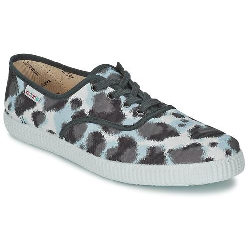 Shoes Women Low top trainers Victoria INGLESA ESTAMP HUELLA TIGRE Grey