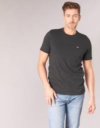Clothing Men short-sleeved t-shirts Levi's SS ORIGINAL HM TEE Black