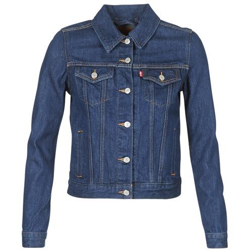 Clothing Women Denim jackets Levi's ORIGINAL TRUCKER Blue / Raw