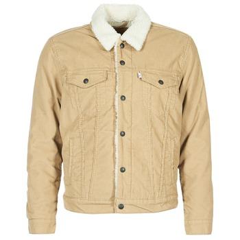 Clothing Men Denim jackets Levi's TYPE 3 SHERPA TRUCKER Beige