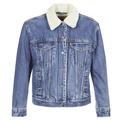 Levis  EX-BF SHERPA TRUCKER  womens Denim jacket in Blue