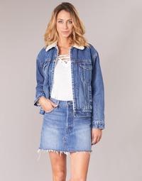 Clothing Women Denim jackets Levi's EX-BF SHERPA TRUCKER To / Love