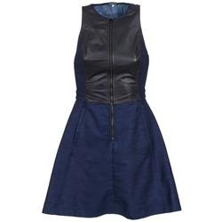 Clothing Women Short Dresses G-Star Raw SUTZIL DRESS MARINE / Black