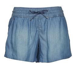 Clothing Women Shorts / Bermudas Hilfiger Denim TINA Blue