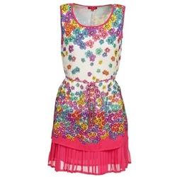 Clothing Women Short Dresses Derhy BARMAN Ecru / Pink