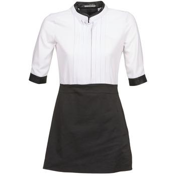 Clothing Women Short Dresses La City COLUMBA Black / White