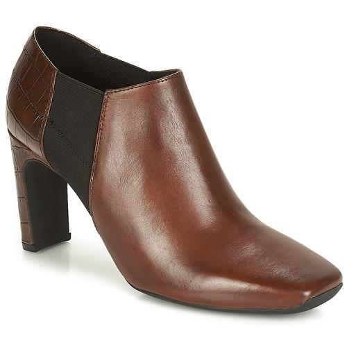 Shoes Women Shoe boots Geox D VIVYANNE HIGH Brown