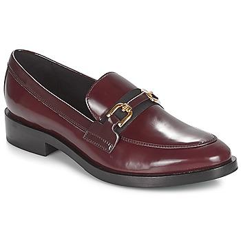 Shoes Women Loafers Geox DONNA BROGUE Bordeaux / Black