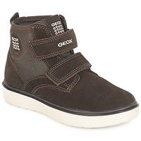 Shoes Boy Hi top trainers Geox J RIDDOCK BOY Brown / Marine