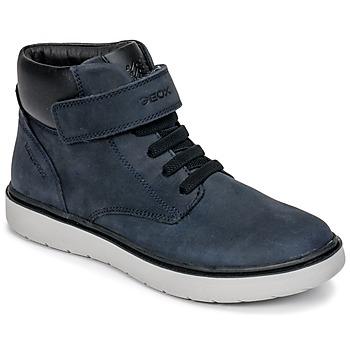 Shoes Boy Hi top trainers Geox J RIDDOCK BOY WPF Marine