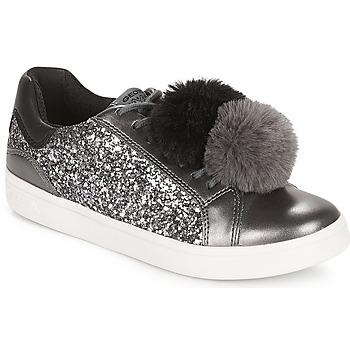 Shoes Girl Low top trainers Geox J DJROCK GIRL Grey