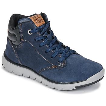 Shoes Boy Hi top trainers Geox J XUNDAY BOY Marine / Black