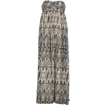 Clothing Women Long Dresses Le Temps des Cerises GOTA Grey / White