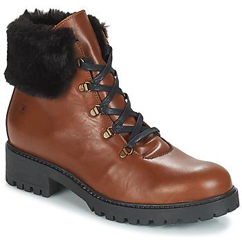 Shoes Women Mid boots Casual Attitude JENO Cognac