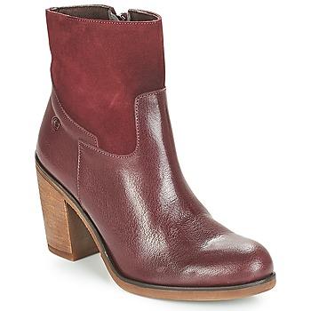 Shoes Women Ankle boots Casual Attitude WASRAH Bordeau