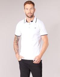 Clothing Men short-sleeved polo shirts Jack & Jones JJEPAULOS White