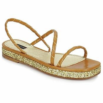 Shoes Women Sandals Marc Jacobs MJ16405 Brown / Gold
