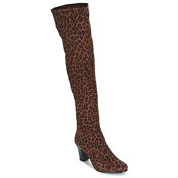 Shoes Women High boots André PRISCA 3 Leopard