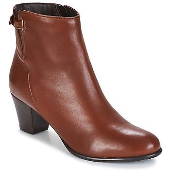 Shoes Women Ankle boots André PASSIONA Cognac