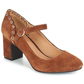 Shoes Women Heels André ALDA Camel