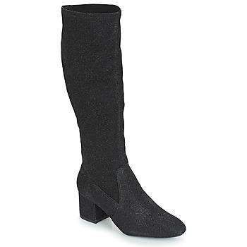 Shoes Women High boots André FARFELUE Black / Glitter