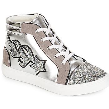 Shoes Women Hi top trainers André LOTUS Silver