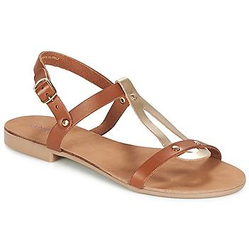 Shoes Women Sandals André TOUFOU Camel