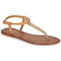 Shoes Women Sandals André GLITTER Camel