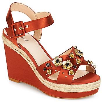 Shoes Women Sandals André IXIA Ocre tan
