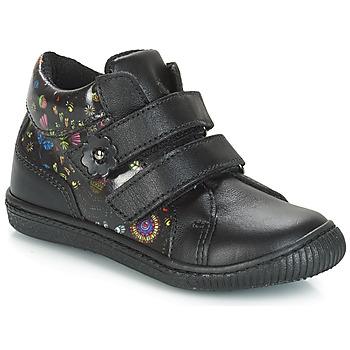 Shoes Girl Low top trainers Citrouille et Compagnie JUPETTE Black / Flowers