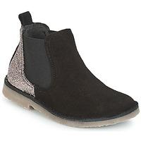 Shoes Girl Mid boots Citrouille et Compagnie FIGOULI Black / Glitter