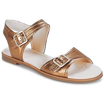 Shoes Women Sandals Clarks Bay Primrose Bronze / Metallic