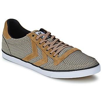 Shoes Men Low top trainers Hummel STADIL JACKARD LOW COVERT / GREEN